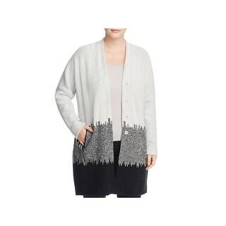 Nic + Zoe Womens Plus Cardigan Sweater Knit Open Front