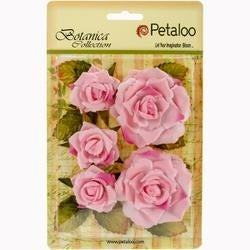 "Soft Pink - Botanica Garden Roses 1.5"" To 2.5"" 5/Pkg"