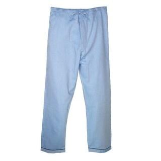 Majestic International Men's Cotton Herringbone Long Sleeve Pajama Set