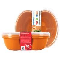 Preserve Food Storage Sandwich Container 25 oz., Orange 2 count