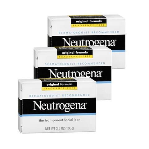 Neutrogena Facial Cleansing Bar 3.5 oz 3-Pack Fragrance Free