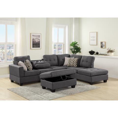 Copper Grove Qarshi Reversible Sectional Sofa Set