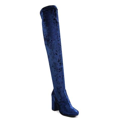 Carlos by Carlos Santana Womens Rumer Round Toe Over Knee Fashion Boots