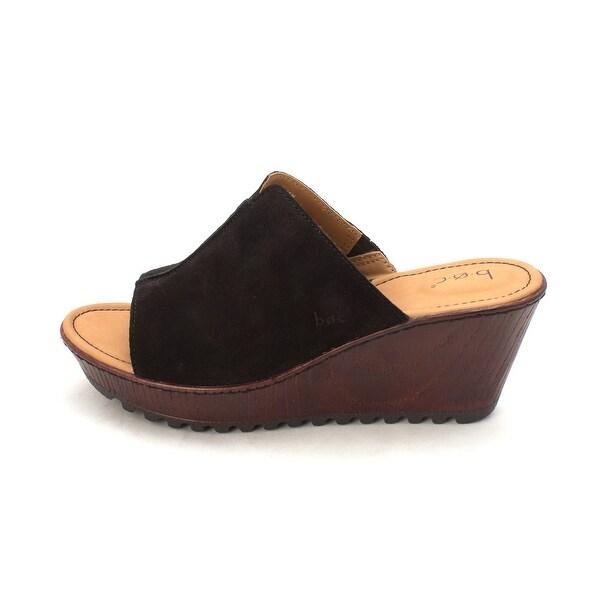 B.O.C Womens Teah Leather Open Toe Casual Mule Sandals