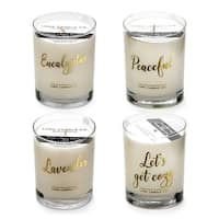 Luna Candle Co., Sit Back, Relax - Eucalyptus and Lavender Scented Luxurious Candles - 11 Oz (4 candle set) - 440 Hrs Burn Time