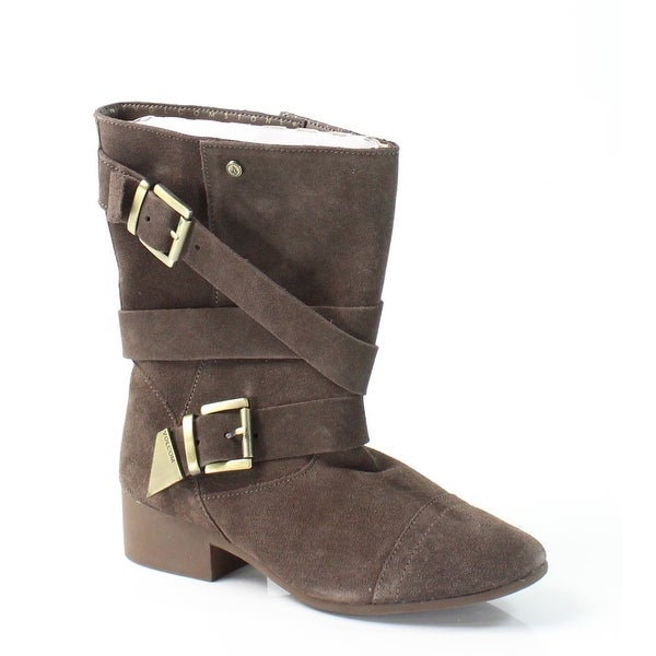 Volcom NEW Brown Chic Flick Shoes Size 6M Mid-Calf Suede Boots