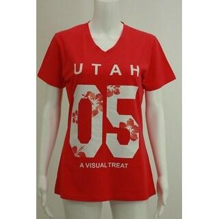Utah Pink V neck tees