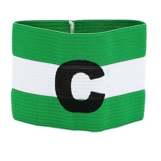 Unique Bargains Green Black Letter C Printed Stretchy Soccer Traning Match Captain Armband Badge