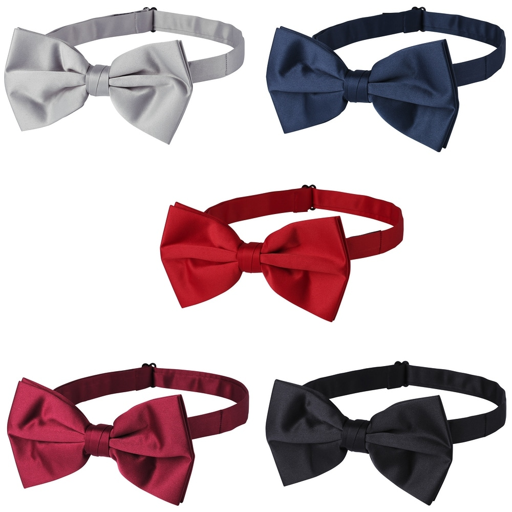 The Tie Bar 100/% Linen Polar Linen Midnight Navy Self-Tie Bow Tie