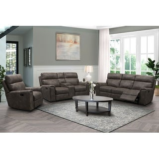 Link to Abbyson Lawrence Fabric Manual Reclining Sofa Set Similar Items in Living Room Furniture