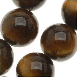 Tiger Tigers Eye Gemstone Round 10mm Brown Beads/15.5 Inch Strand