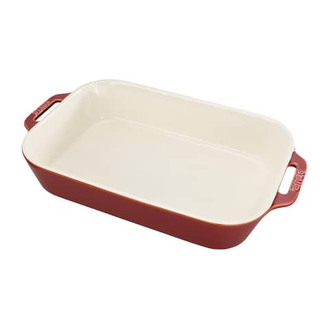 Staub Ceramic 13-inch x 9-inch Rectangular Baking Dish