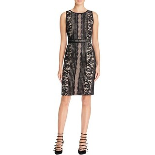 Adrianna Papell Womens Wear to Work Dress Lace Overlay Sheath