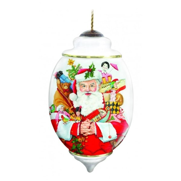 """Ne'Qwa Limited Edition """"Arms of Plenty"""" Hand-Painted Blown Glass Christmas Ornament #7131151"""