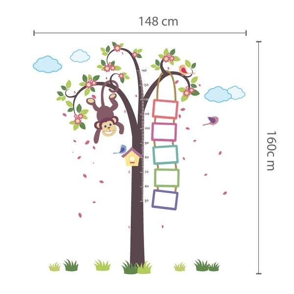 Walplus Monkey Growth Chart Wall Sticker Decal Wall Art Nursery Decor Overstock 31768932