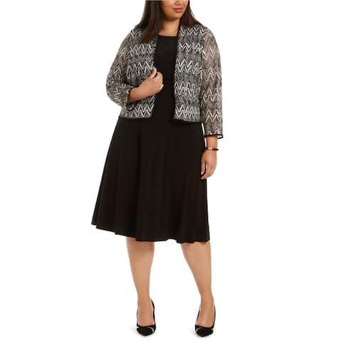 Jessica Howard Womens Lace Blazer Jacket, Beige, 20W