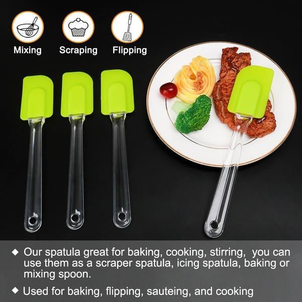Heat Resistant Flexible Silicone Spatula Cake Spatula Cooking Baking Scraper SJ