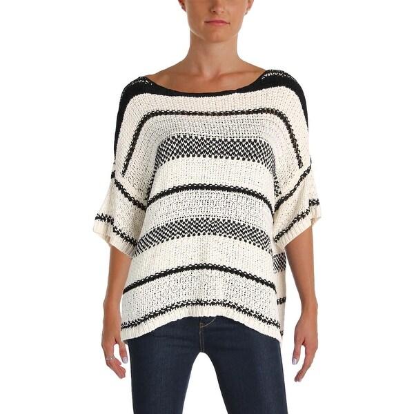 Polo Ralph Lauren Womens Sweater Striped Short Sleeves