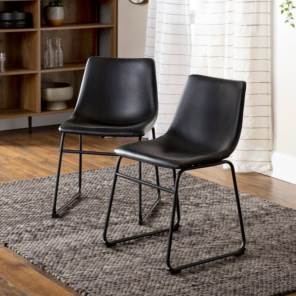 Carbon Loft Prusiner Faux Leather Dining Chair (Set of 2). Opens flyout.