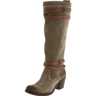 Frye Womens Jane Strappy Riding Boots Suede Knee-High