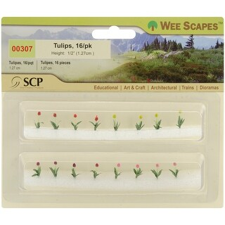 "Tulips .5"" 16/Pkg- - Yellow"