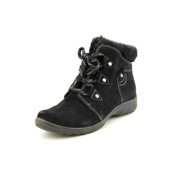 Earth Origins Cooper Women Round Toe Suede Black Ankle Boot