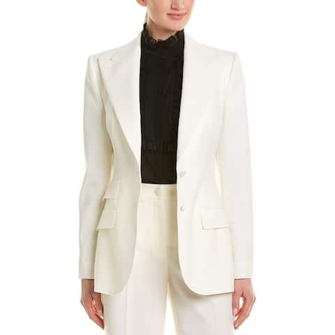 Dolce & Gabbana Peak Wool & Silk-Blend Blazer