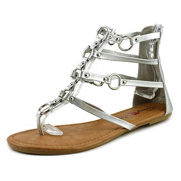 Penny Loves Kenny Matrix Women Open Toe Synthetic Silver Gladiator Sandal