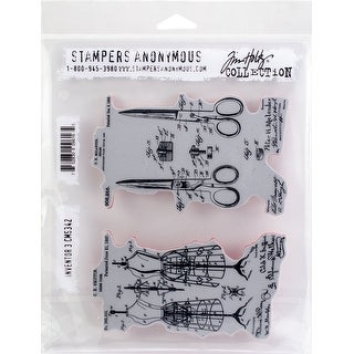 "Tim Holtz Cling Stamps 7""X8.5""-Inventor 3"
