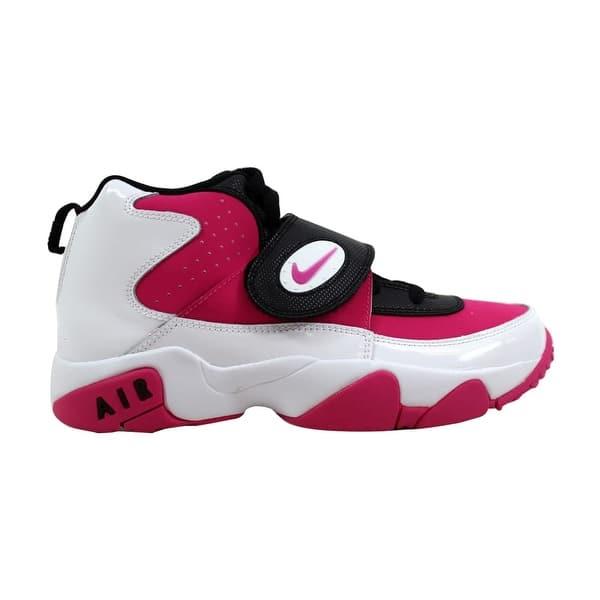 387566adb636 Nike Air Mission White Vivid Pink-Black Grade-School 630911-101 Size 6.5  Medium