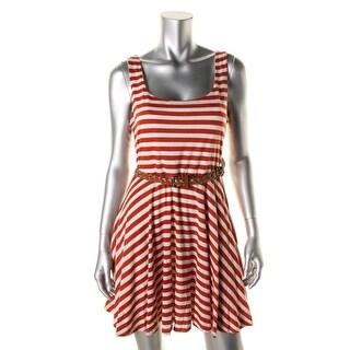 As U Wish Womens Juniors Casual Dress Knit Striped