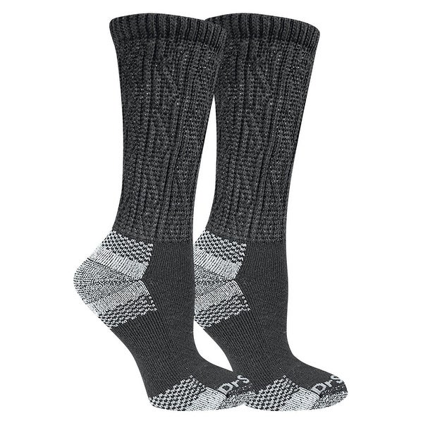 Dr. Scholl's Women's Advanced Relief Crew Socks - Anti-Microbial Socks (2 Pairs) - shoe size: 8-12 (large)
