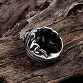 Vienna Jewelry Skull Emblem Abstract Stainless Steel Ring - Thumbnail 1