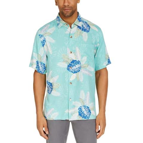 Tommy Bahama Mens Casual Shirt Floral Print Button Down - Kohala Teal