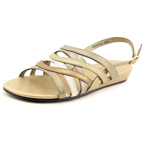 Mark Lemp By Walking Cradles Lanie Open-Toe Leather Slingback Sandal