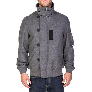 Dior Homme Men's Virgin Wool Duffle Style Blouson Jacket Grey
