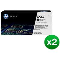 HP 651A Black Contract LaserJet Toner Cartridge (CE340A)(2-Pack)