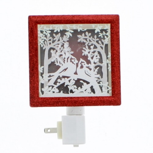 "Roman - 6"" N-LIGHT CARDINAL PAPER CUT FRAME SWIVEL PLUG"
