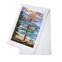 Big Bear Lake CA Destination Sign - LP Artwork (100% Cotton Towel Absorbent)
