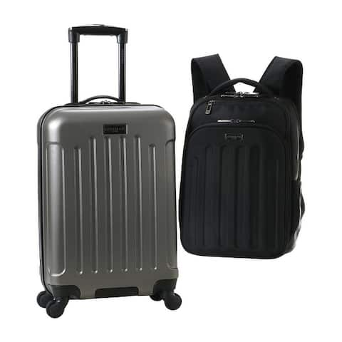 """Heritage Travelware Lincoln Park 2-Piece Weekender Set With 20"""" Carry-On Suitcase & 16"""" Laptop Backpack"""