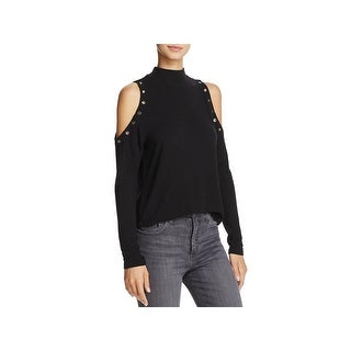 Generation Love Womens Nicky Pullover Top Cold Shlouder Long Sleeves