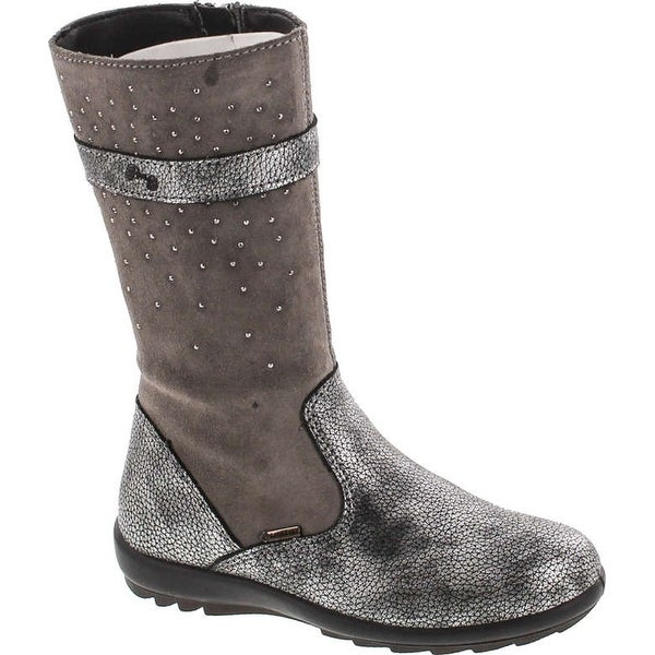 Primigi Girls 8567 Gore Tex Waterproof Winter Boots - grey piombo