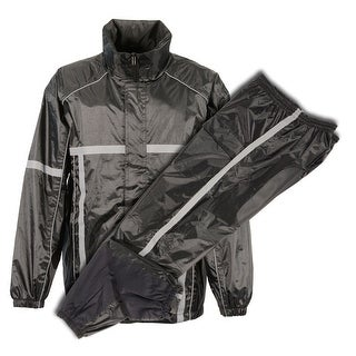 Men's Waterproof Rain Suit w/ High Visibility Reflective Tape