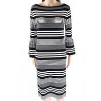 Lauren by Ralph Lauren Womens Small Striped Sheath Dress