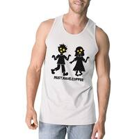 Must Have Coffee Zombies Halloween Tank Top Graphic Cotton Tanks