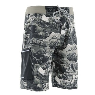 Huk Men's KC Scott Offshore Cell Charcoal Grey Size 36 Boardshort