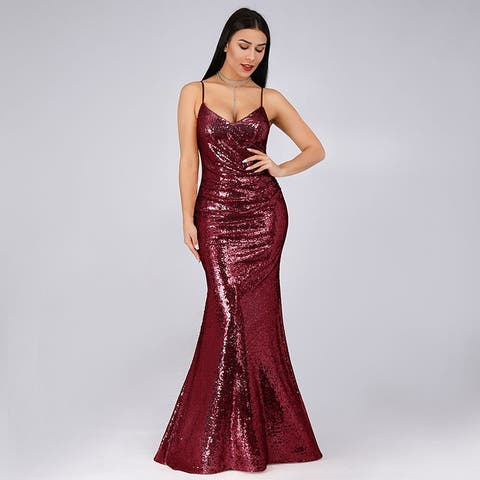 edf58e91d8ed Ever-Pretty Womens Sexy Bodycon Mermaid Sequin Long Evening Cocktail Party  Dress 07339
