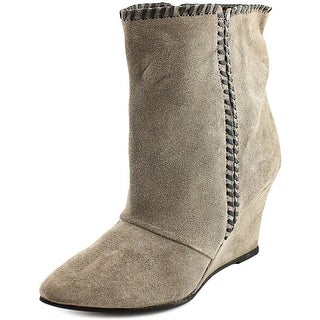 Charles By Charles David Naya Women Pointed Toe Suede Gray Ankle Boot