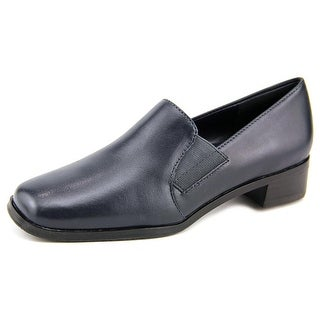 Trotters Ash Women N/S Round Toe Leather Blue Loafer