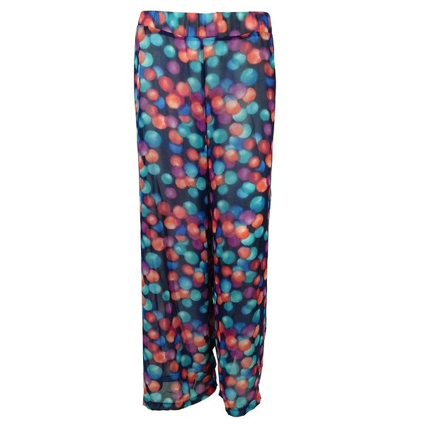 Bar III Women's Printed Pants Swim Cover Up - multi
